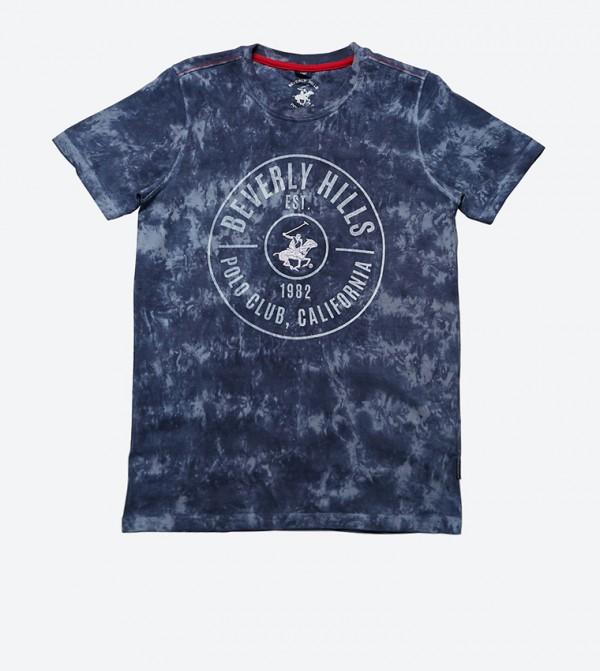 31baca6c Beverly Hills Polo Club Feel The Vibe Tie Dye Short Sleeve T-Shirt - Red