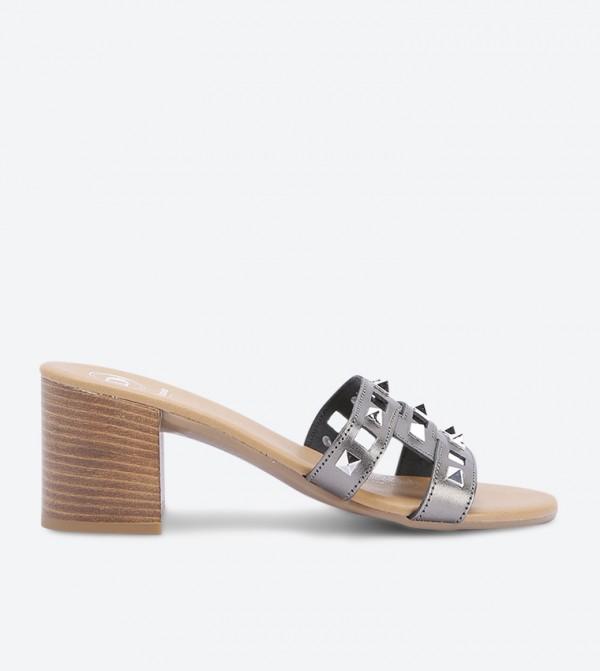 حذاء مفتوح - رمادي