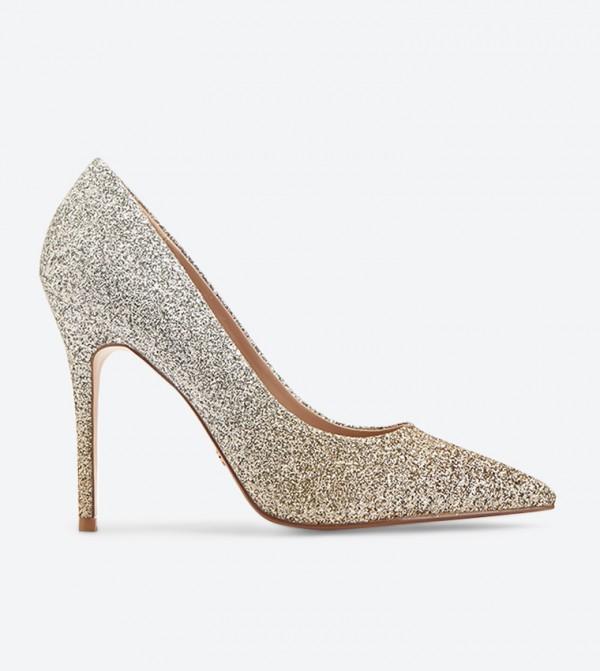 حذاء بيمنغ بكعب عالي لون ذهبي
