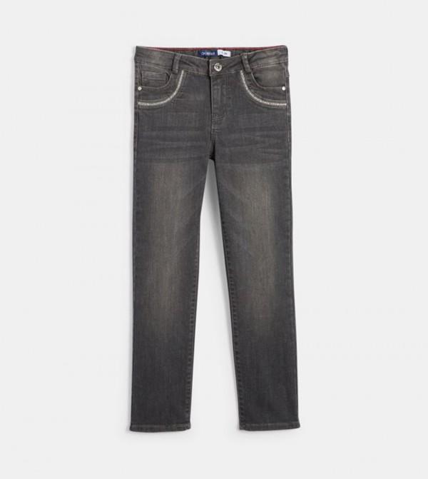 بنطال جينز - رمادي