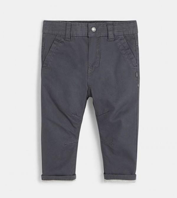 Colored Twill Pants-Medium Gray