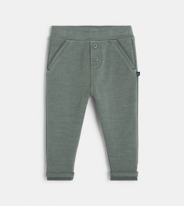 Knit Jogpants-Green