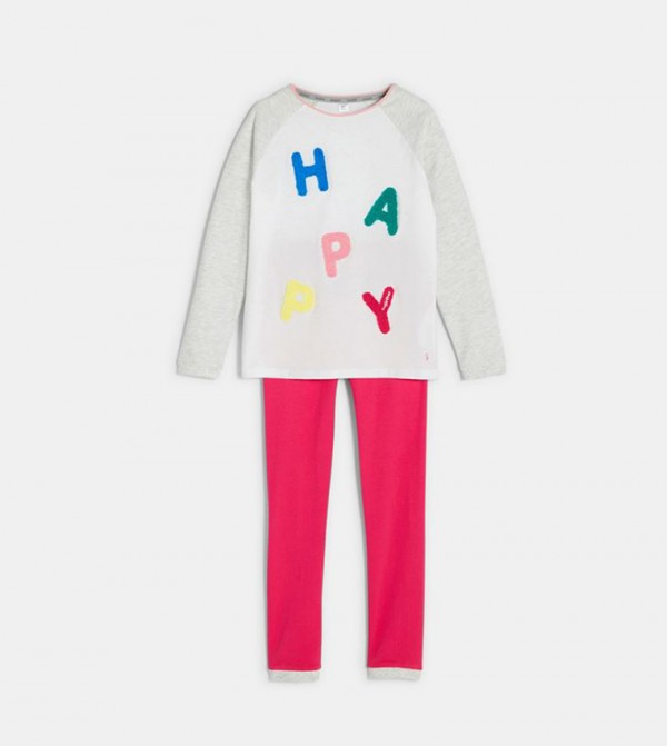 Pajamas With A Message-White