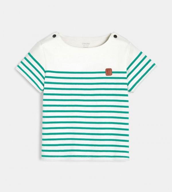 Striped T-Shirt-Green