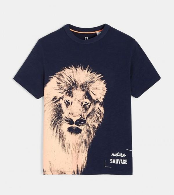 Slub Jersey T-Shirt-Blue