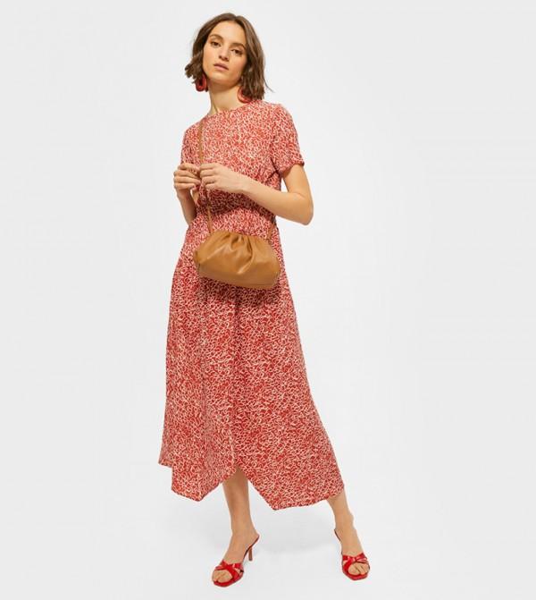 Monochrome Garden Maxi Dress - Printed