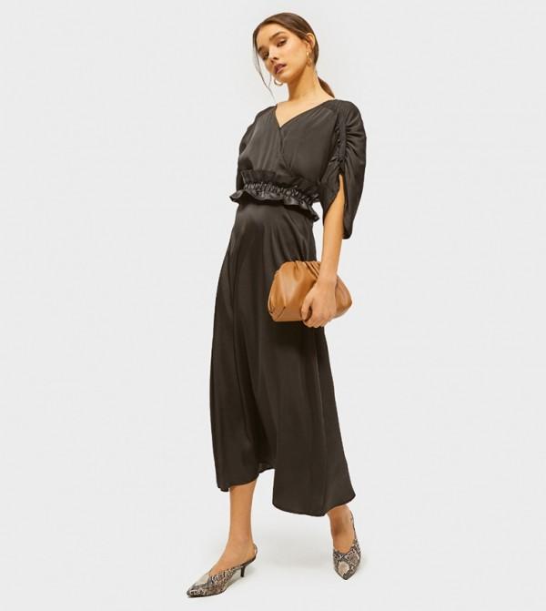 Animal Artist Maxi Dress - Black