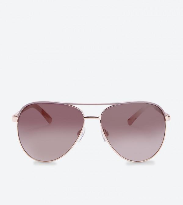 Aviator Plait Arm Sunglasses - Pink