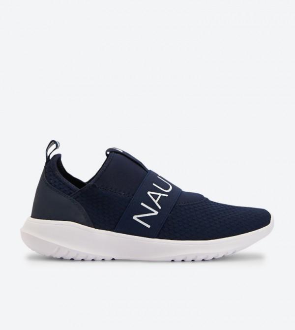 حذاء سهل الإرتداء بشعار نوتيكا لون كحلي