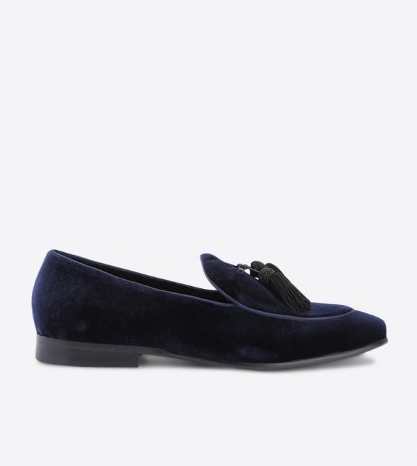 Skywalk Di Velvet Tassel Details Loafers - Navy