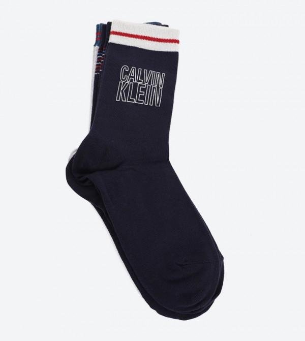 3 Pr Holiday Sparkle Logo Socks - Asst.97