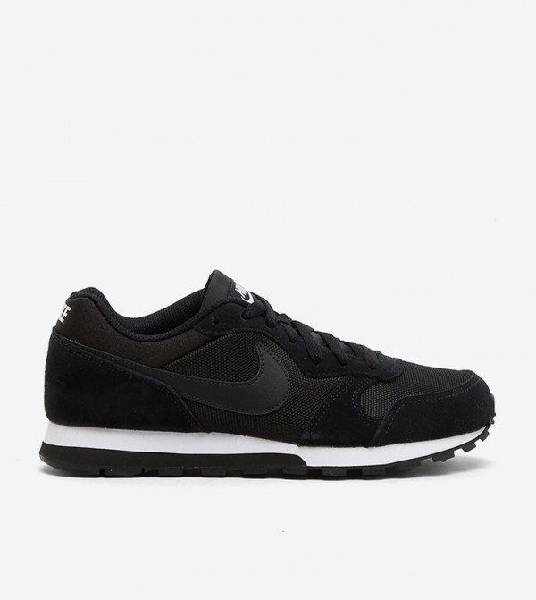 Wmns Md Runner 2 Laced Shoes-Black/Black-White