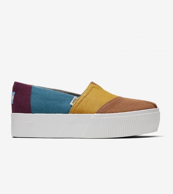 حذاء بلاتفورم ملون - متعدد الألوان