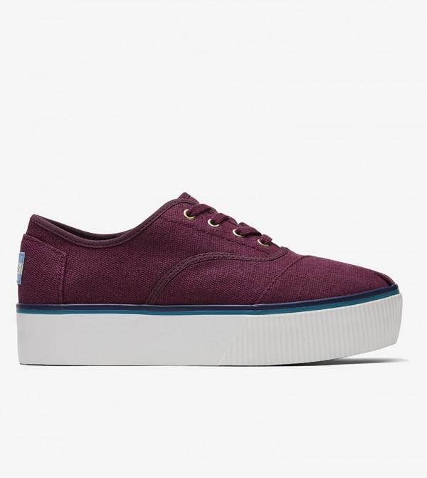 حذاء بكعب رفيع مع خيوط - بنفسجي