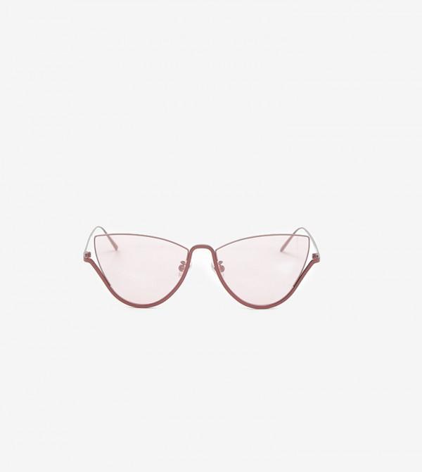 Half Frame Cat-Eye Sunglasses-Pink