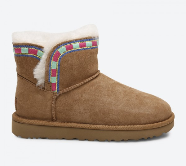 Rosamaria Embroidery Boots - Brown