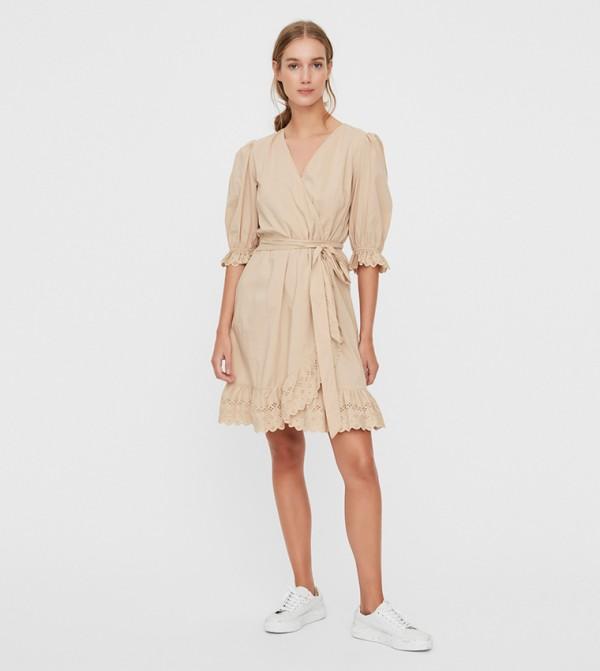 Short Dresses - Brown