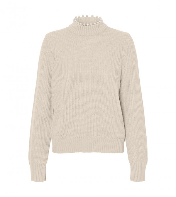 Long Sleeves Knit - White