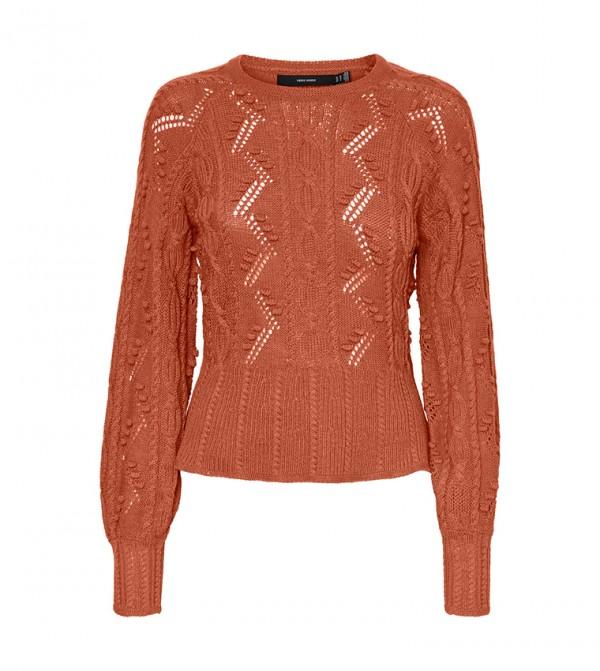 Long Sleeves Knit - Brown