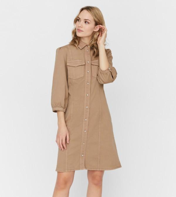 فستان قصير - فضي