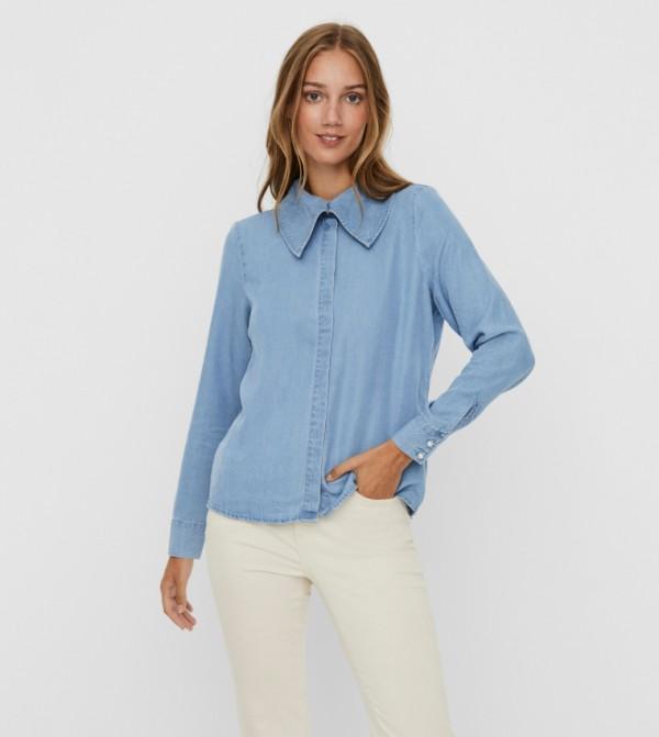 قميص - ازرق فاتح - دينيم