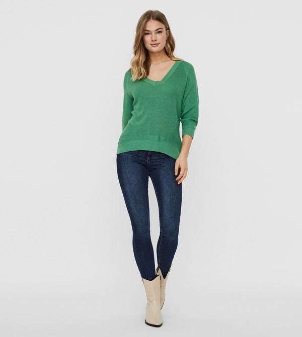 Long Sleeves Knit - Green