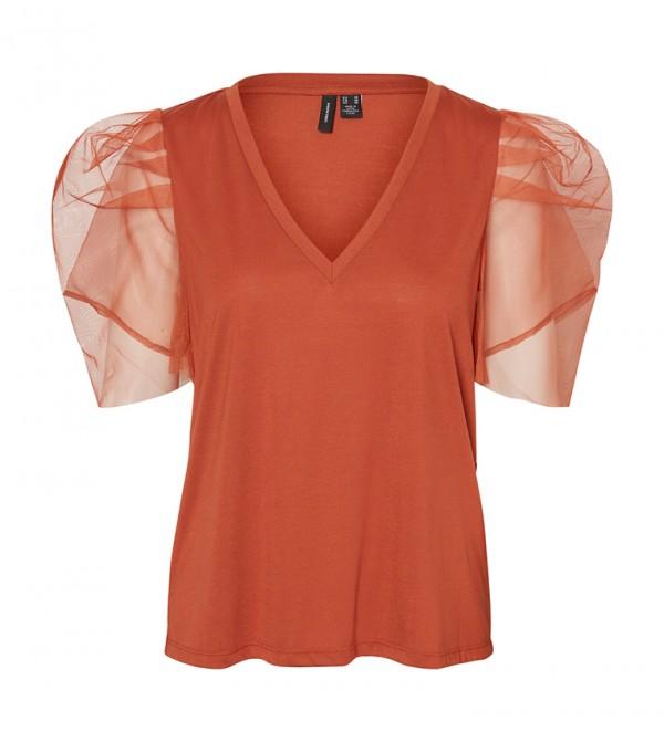 Short Sleeves T-shirts - Brown