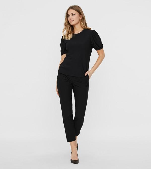 Short Sleeves Tops - Black