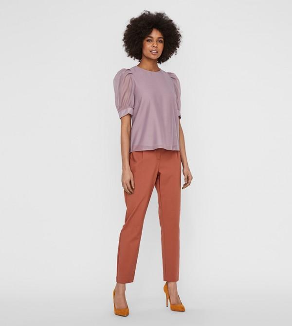Short Sleeves Shirts - Purple