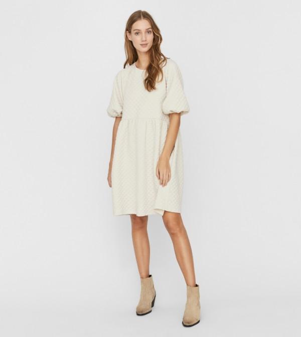 فستان قصير - خشبي فاتح