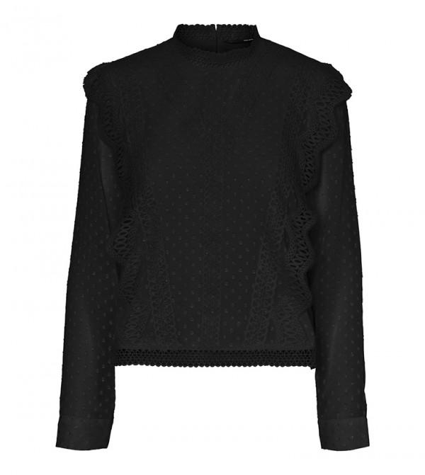 Long Sleeves Tops - Black