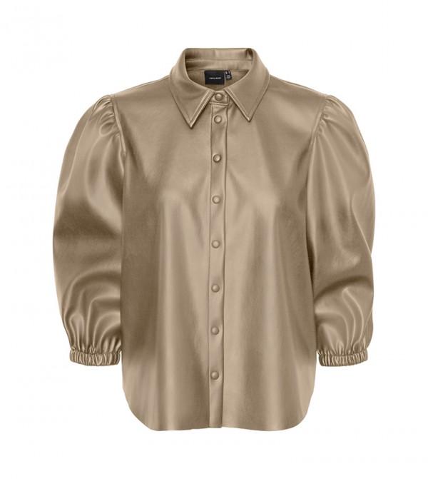 Long Sleeves Shirts - Brown