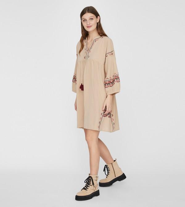 Long Sleeves Tops - Brown