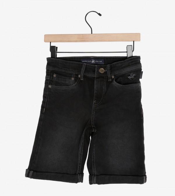 شورت جينز أسود