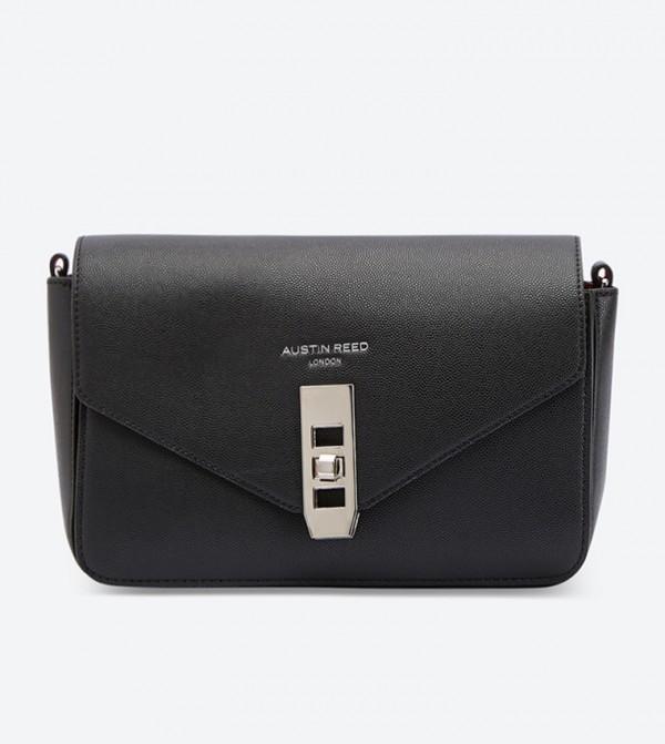 Lock Details Cross Body Bag Black 130218010ngt