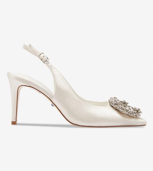 Bridal Wreath Brooch Pumps - White 1312503940024510