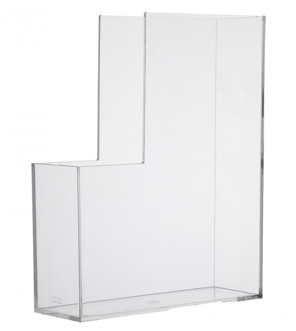 Magazine File Transparent Lux White