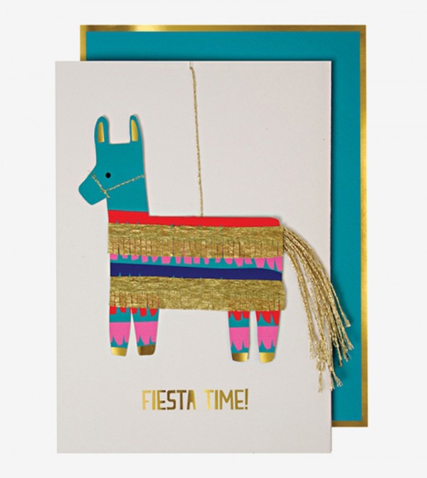 Pinata Fiesta Happy Birthday Card - Green