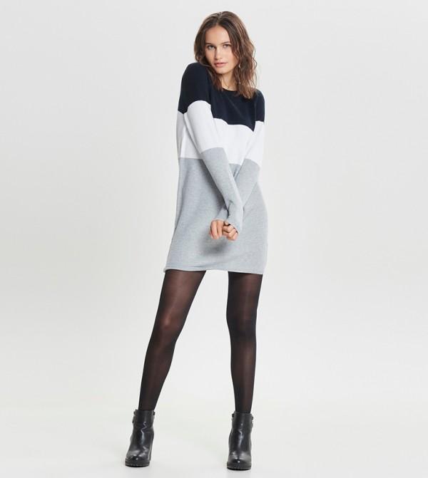 Long Sleeve Round Neck Short Dress