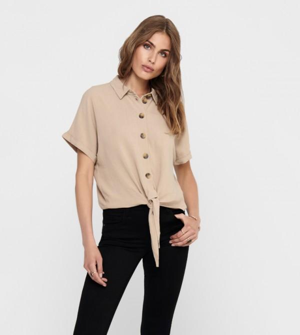 قميص جينز - تفاحي  ذبدي