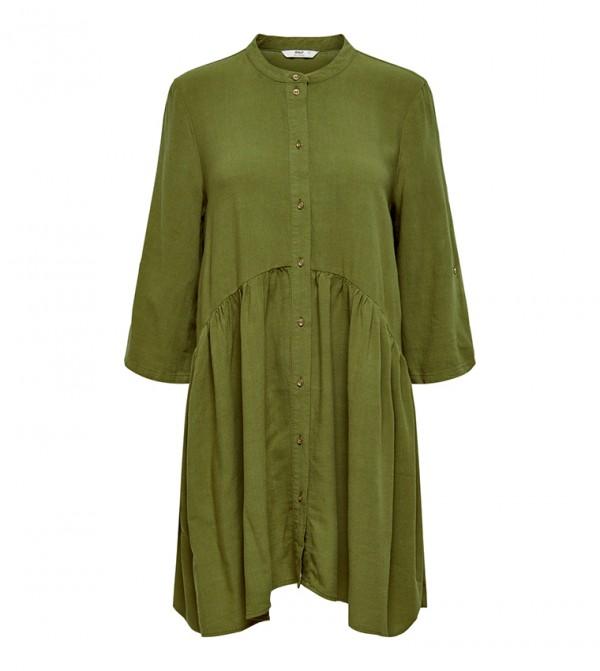 Long Sleeve Roll-Up Short Dress