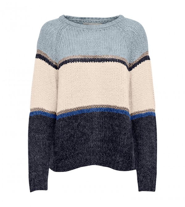 Long Sleeve Round Neck Knitted Top