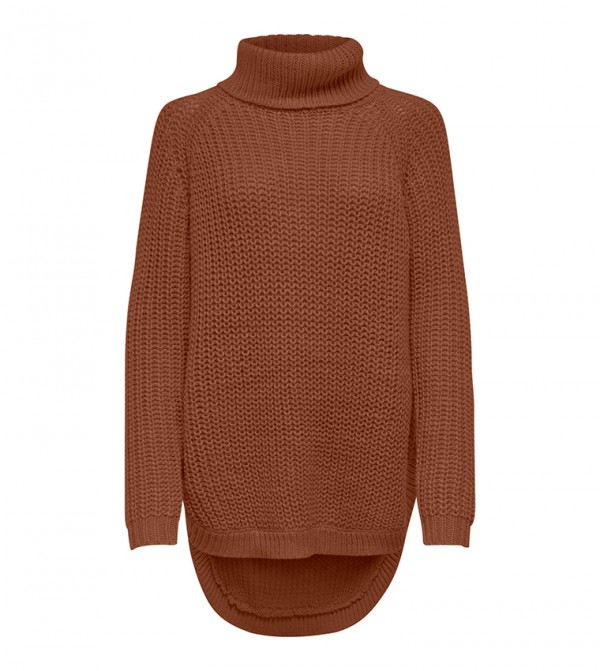 Long Sleeve Turtle Neck Knitted Top
