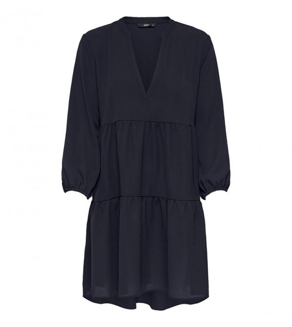 V-Neck Solid Short Dress