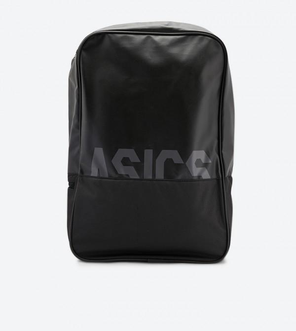 حقيبة ظهر بشعار أسيكس لون أسود
