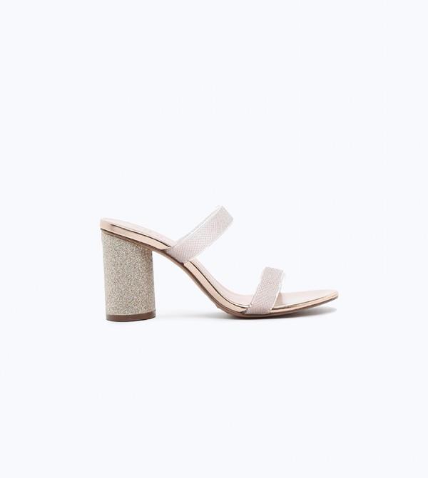 Block Heels - Gold