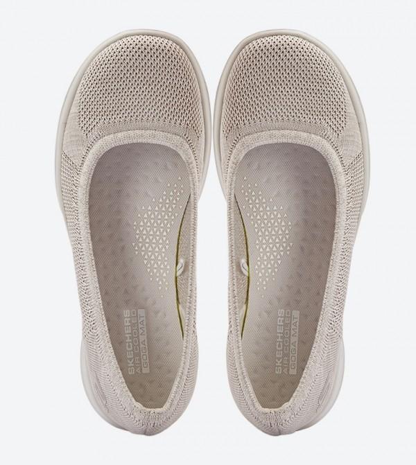 Go Walk Lite Enamor Round Toe Ballerinas Beige