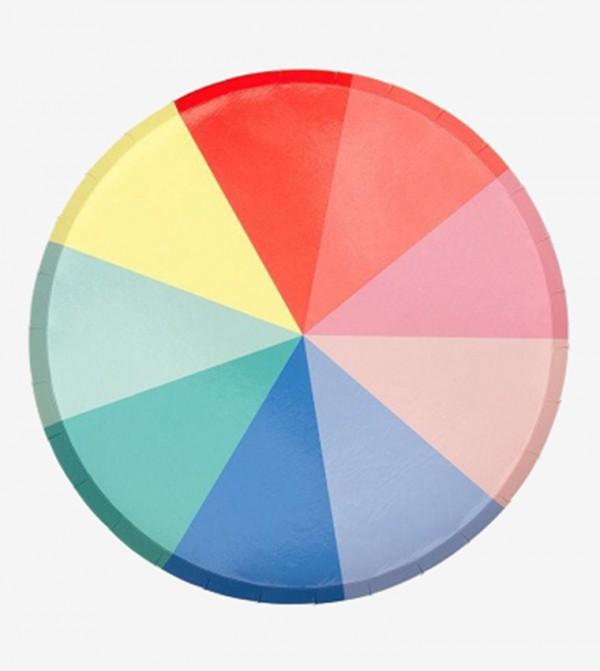 Colour Wheel Side Plates Set (8 Pcs) - Multi