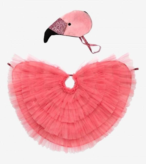 لباس حفلات بتصميم فلامينجو لون زهري