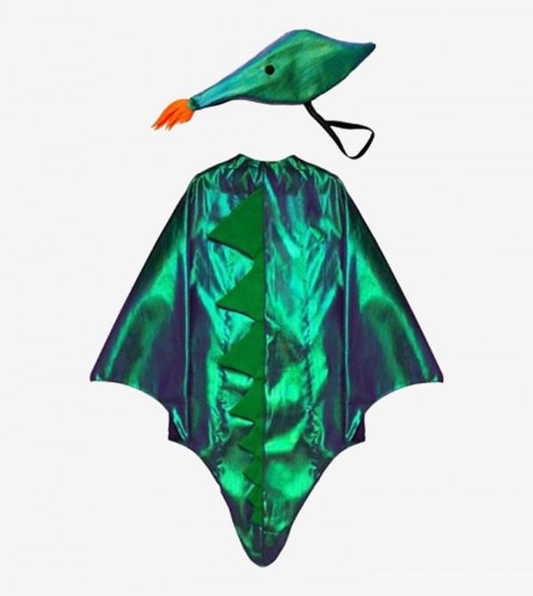 لباس حفلات بتصميم التنين لون أخضر